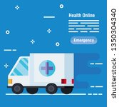 medical ambulance service to... | Shutterstock .eps vector #1350304340