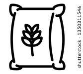 wheat sack icon. outline wheat... | Shutterstock .eps vector #1350311546
