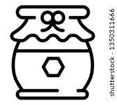 tasty honey jar icon. outline... | Shutterstock .eps vector #1350311666