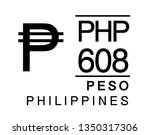 p  php  608  peso  philippines... | Shutterstock .eps vector #1350317306