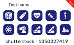 test icon set. 10 filled test... | Shutterstock .eps vector #1350327419