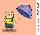 cute cartoon cat under an...   Shutterstock .eps vector #1350328469