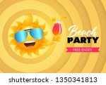 beach party  free entry... | Shutterstock .eps vector #1350341813