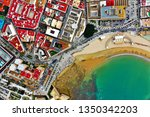 cadiz with drone   amazing air...   Shutterstock . vector #1350342203