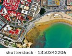 cadiz with drone   amazing air...   Shutterstock . vector #1350342206