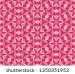 kaleidoscope seamless pattern...   Shutterstock .eps vector #1350351953