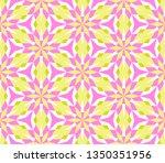 kaleidoscope seamless pattern...   Shutterstock .eps vector #1350351956