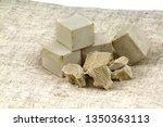 bakers ' yeast for baking. the... | Shutterstock . vector #1350363113