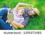 couple in love spend leisure... | Shutterstock . vector #1350371483