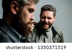 man argue while guy feel sorry. ... | Shutterstock . vector #1350371519