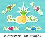 green sticker smoothie fruit...   Shutterstock .eps vector #1350390869