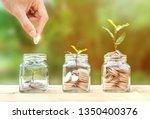 money savings  investment ... | Shutterstock . vector #1350400376