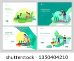 landing page template with... | Shutterstock .eps vector #1350404210