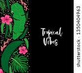 beautiful tropical green palm... | Shutterstock .eps vector #1350404963