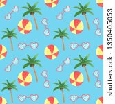 seamless summer pattern with...   Shutterstock . vector #1350405053