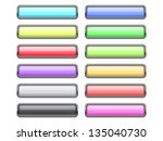 set of glossy web buttons. file ... | Shutterstock .eps vector #135040730