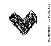 vector scribble line heart art | Shutterstock .eps vector #1350407633