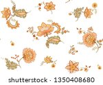 seamless pattern with stylized...   Shutterstock .eps vector #1350408680