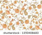 seamless pattern with stylized... | Shutterstock .eps vector #1350408683