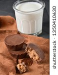 chocolate covered peanut butter ... | Shutterstock . vector #1350410630