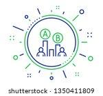 ab testing line icon. ui test...