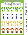 write the missing numbers ... | Shutterstock .eps vector #1350415226