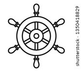 ship steering wheel icon.... | Shutterstock .eps vector #1350418829
