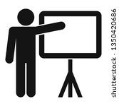 man show to banner icon. simple ... | Shutterstock .eps vector #1350420686