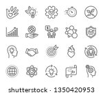 core values line icons.... | Shutterstock .eps vector #1350420953