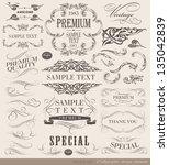 calligraphic design elements... | Shutterstock .eps vector #135042839