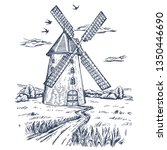 Mill. Hand Drawn Vintage...