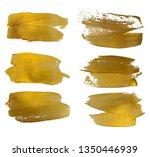 vector gold paint smear stroke... | Shutterstock .eps vector #1350446939