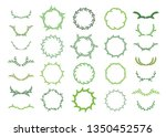 set of circular and round green ... | Shutterstock .eps vector #1350452576