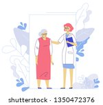 medicine concept with doctor... | Shutterstock .eps vector #1350472376