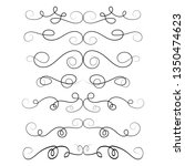 ornament frames and scroll... | Shutterstock .eps vector #1350474623