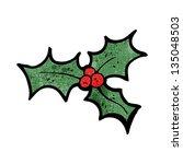 holly cartoon design element | Shutterstock . vector #135048503