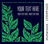 green grunge vector background  ... | Shutterstock .eps vector #1350491633