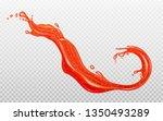 strawberry jam. transparent red ...   Shutterstock .eps vector #1350493289