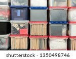 stacked plastic file storage... | Shutterstock . vector #1350498746