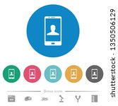 video call flat white icons on... | Shutterstock .eps vector #1350506129