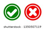 check mark icon and cross on... | Shutterstock .eps vector #1350507119
