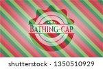 bathing cap christmas emblem... | Shutterstock .eps vector #1350510929