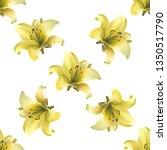yellow lilium. vector... | Shutterstock .eps vector #1350517790