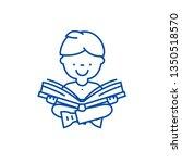 boy reading book line icon... | Shutterstock .eps vector #1350518570