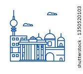 berlin line icon concept.... | Shutterstock .eps vector #1350520103