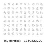 collection of line gray icons... | Shutterstock . vector #1350523220