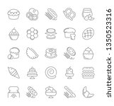 collection of line gray icons... | Shutterstock . vector #1350523316