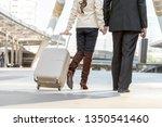 couple lover business journey... | Shutterstock . vector #1350541460