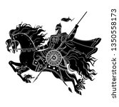 dark rider horse from... | Shutterstock .eps vector #1350558173