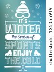 winter sports fun and... | Shutterstock .eps vector #135055919